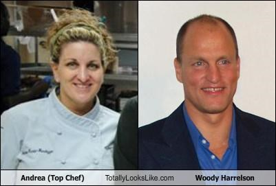 Andrea (Top Chef) Totally Looks Like Woody Harrelson