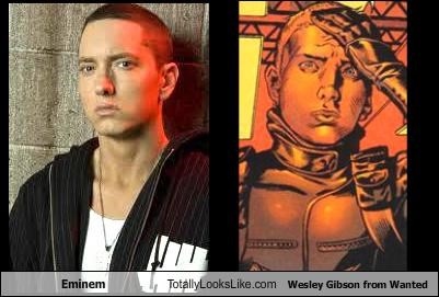 Eminem Totally Looks Like Wesley Gibson from Wanted