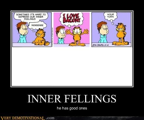 inner,feelings,garfield,funny,bacon