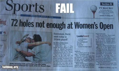 failboat,golf,headline,holes,LPGA,Probably bad News