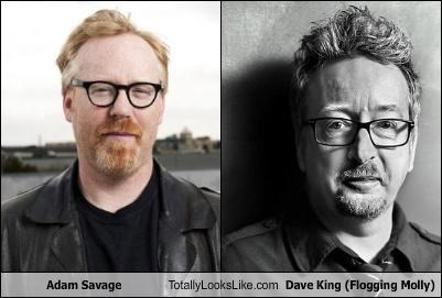 Adam Savage Totally Looks Like Dave King (Flogging Molly)