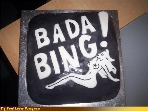 bada bing,cake,hbo,Sweet Treats,television,the sopranos,tony,Tony Soprano,TV