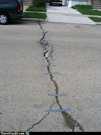 Duct Tape Road Repairs