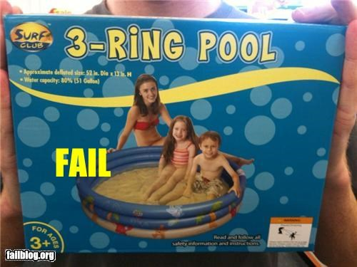 Pool water fail