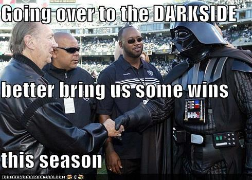 Going over to the DARKSIDE better bring us some wins this season