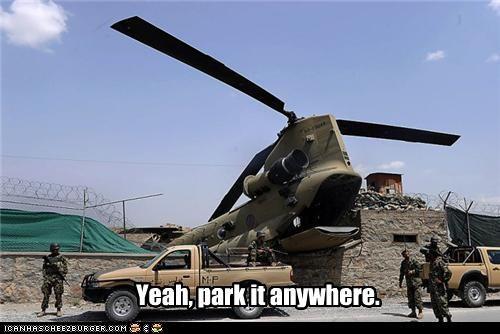 Yeah, park it anywhere.