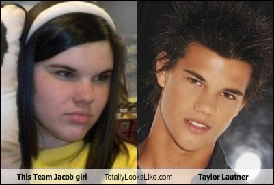 This Team Jacob girl Totally Looks Like Taylor Lautner