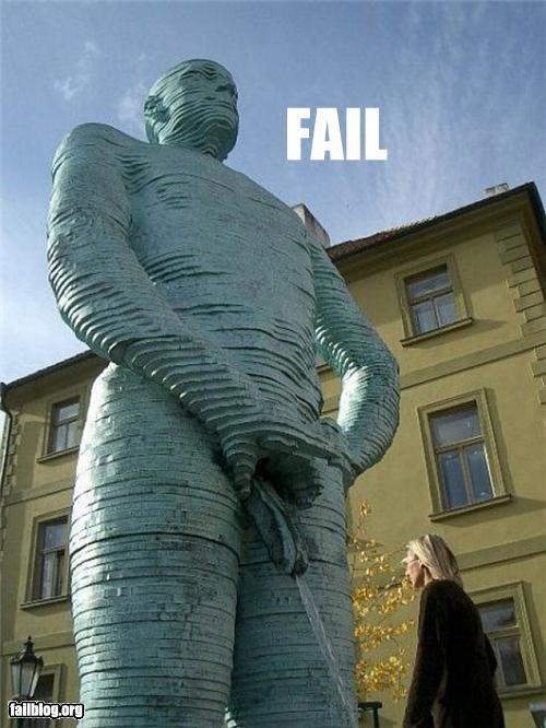 Statue Fail