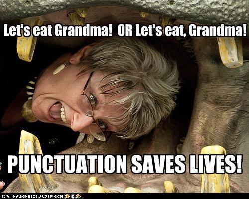 Let's eat Grandma!  OR Let's eat, Grandma!