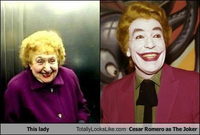 This lady Totally Looks Like Cesar Romero as The Joker