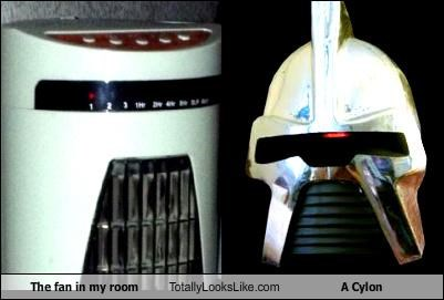 The fan in my room Totally Looks Like A Cylon