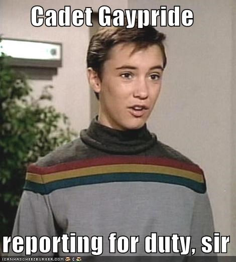 Cadet Gaypride    reporting for duty, sir