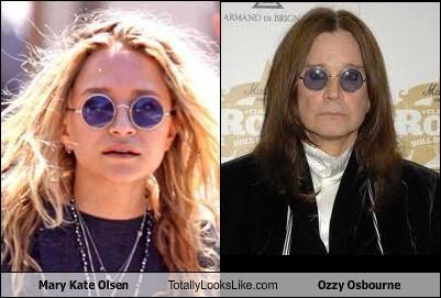 Mary Kate Olsen Totally Looks Like Ozzy Osbourne