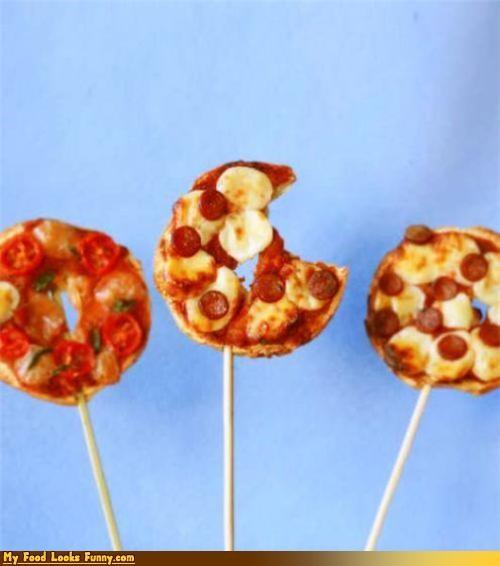 bagel,bagel on a stick,bread,on a stick,pizza,pizza bagel,pizza bagel on a stick,stick
