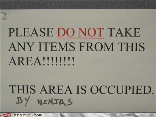 Ninjas Who Do Not Appreciate You Taking Their Things