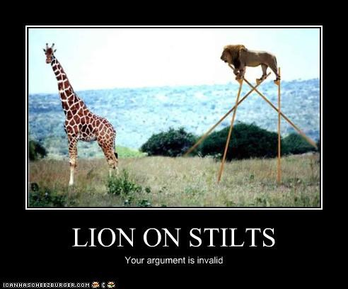LION ON STILTS