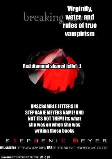Red diamond shaped jello!  :)