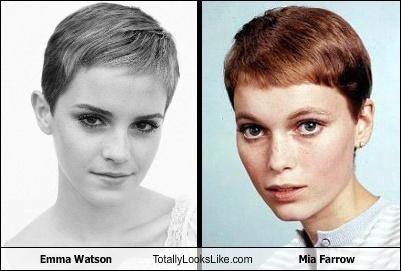 Emma Watson Totally Looks Like Mia Farrow