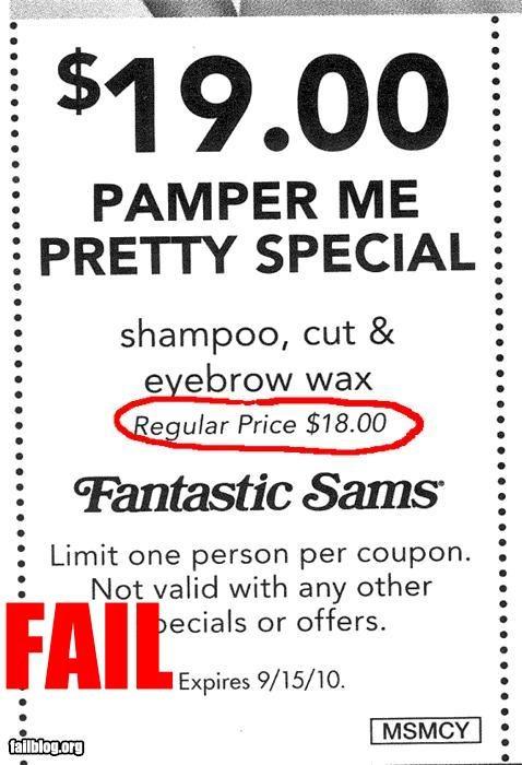 coupon,failboat,g rated,hair cuts,savings