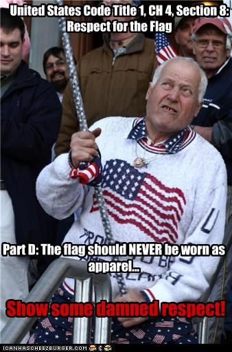 United States Code Title 1, CH 4, Section 8: Respect for the Flag