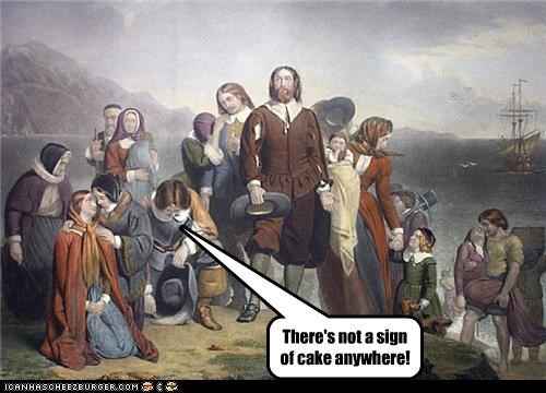 There's not a sign of cake anywhere!