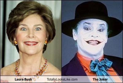 Laura Bush Totally Looks Like The Joker