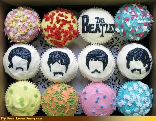 band,beatles,cupcakes,George,john,love,Music,Paul,Ringo,rock,sprinkles,Sweet Treats,the Beatles