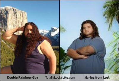 double rainbow guy,hurley,lost