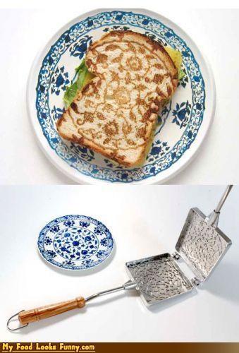 bread,design,fancy,pattern,pretty,toast,utencils