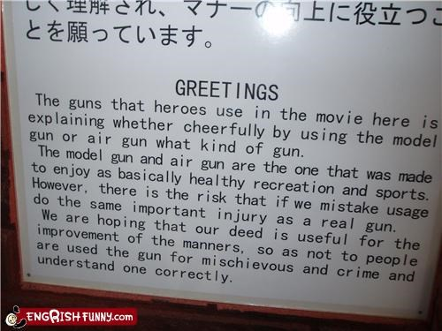 explanations,guns,movies,sign