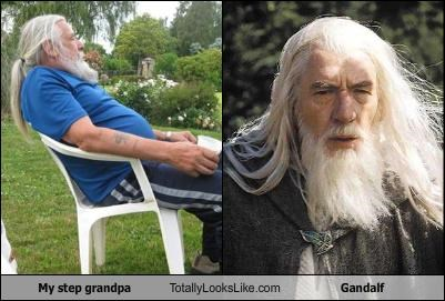 My step grandpa Totally Looks Like Gandalf