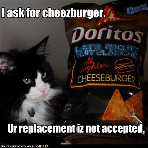 I ask for cheezburger.