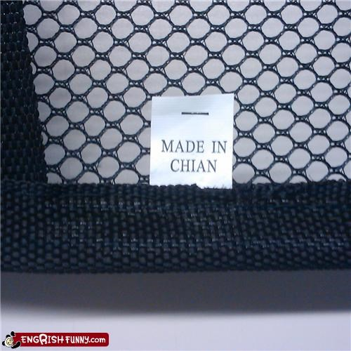 chian,made in,misspelled