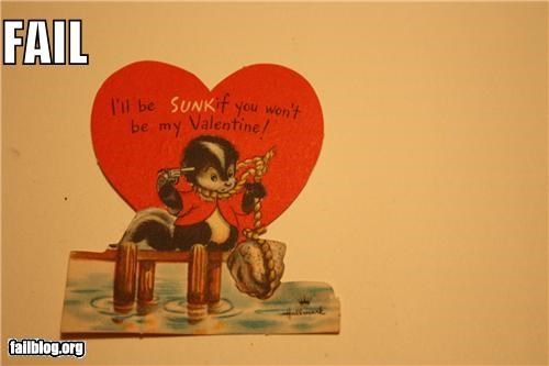 cards,failboat,love,old timey card,suicide,Valentines day