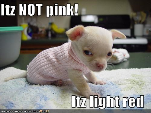Itz NOT pink!  Itz light red