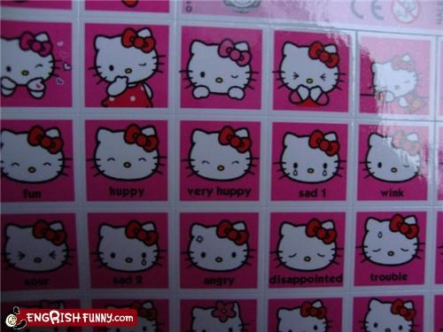 Hello Kitty is huppy