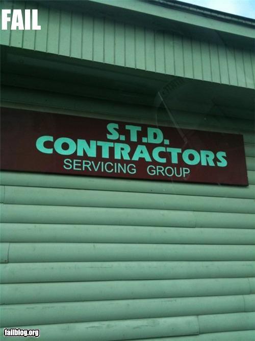 business name,contractors,failboat,innuendo,STD