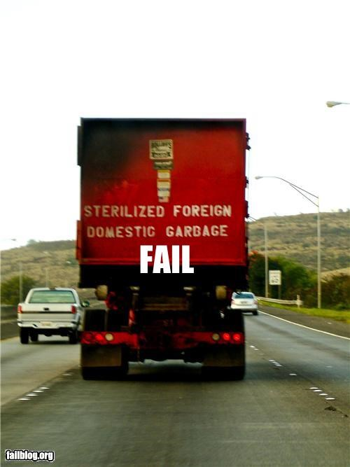 domestic,failboat,foreign,garbage,oddly specific,sterile,truck