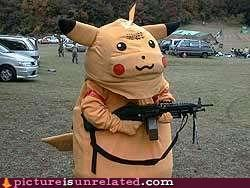 Pikachu Uses Machine Gun...