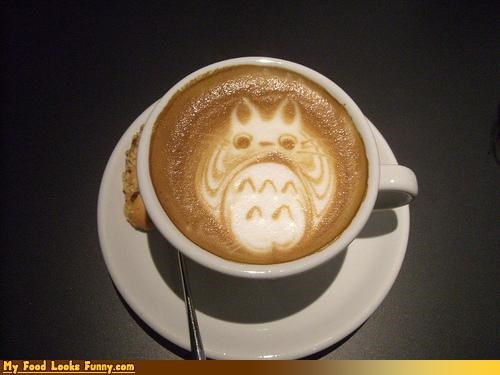 animation,cappuccino,cappuccino foam art,coffee,cup,foam,foam art,Japan,my neighbor totoro,totoro