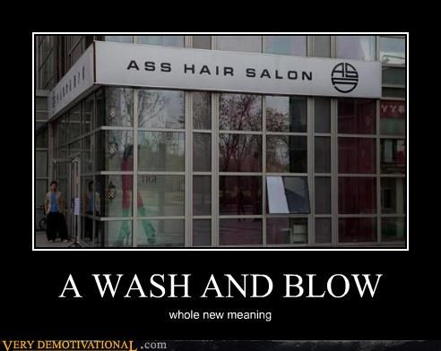 A WASH AND BLOW
