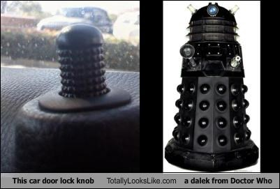 This car door lock knob Totally Looks Like a dalek from Doctor Who