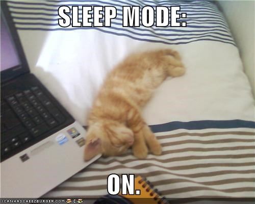 SLEEP MODE:  ON.