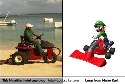 luigi,Mario Kart,mauritian hotel employee