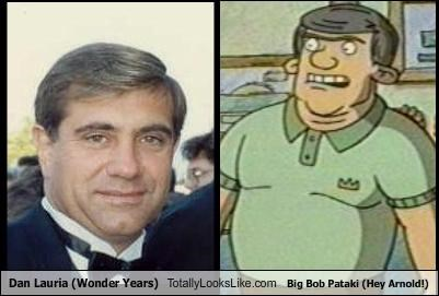 Dan Lauria (Wonder Years) Totally Looks Like Big Bob Pataki (Hey Arnold!)