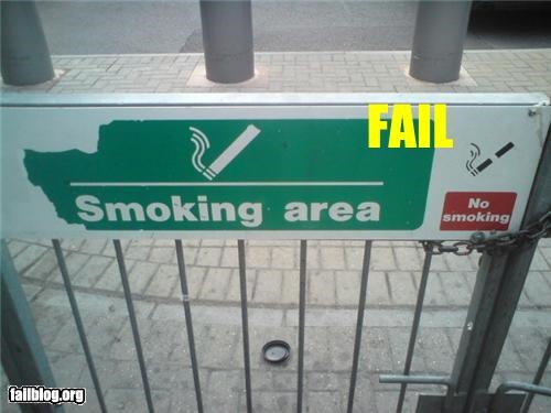 Smoking Area Fail