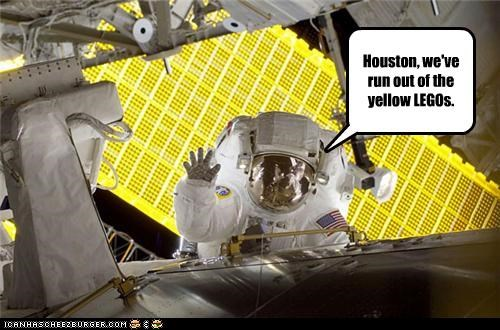 Houston, we've run out of the yellow LEGOs.