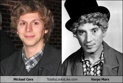 Michael Cera Totally Looks Like Harpo Marx