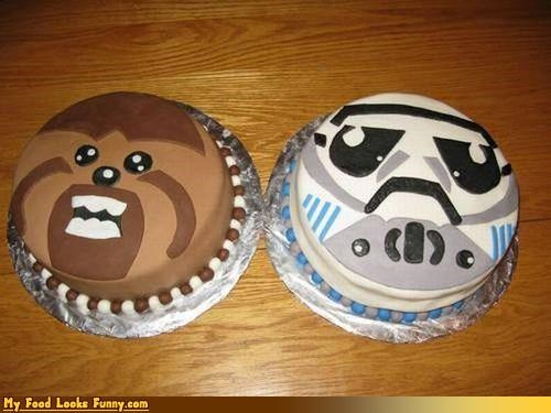 cakes,chewbacca,faces,movies,star wars,stormtrooper,Sweet Treats