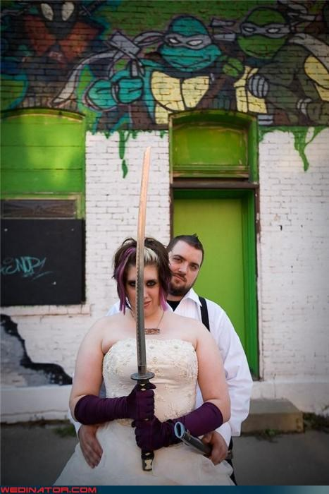 Teenage Mutant Ninja Turtle Themed Wedding